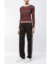 HUGO - Multicolor Slim-fit Sweater In Three-colour Jacquard - Lyst