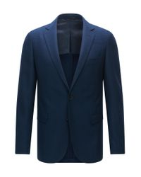 BOSS | Blue Extra-slim-fit Jacket In Stretch Virgin Wool for Men | Lyst