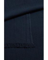 BOSS Orange - Blue Jacquard Scarf In Soft Cotton for Men - Lyst