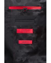 HUGO Black Extra-slim-fit Tuxedo In Virgin Wool With Reverse Lapels for men