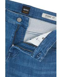 BOSS - Blue Slim-fit Jeans In Spanish-knit Stretch Denim for Men - Lyst