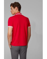 BOSS Red 'paddy' | Modern Fit, Cotton Polo Shirt for men