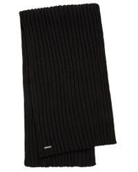 HUGO - Black Scarf In New Wool: 'zappo' for Men - Lyst
