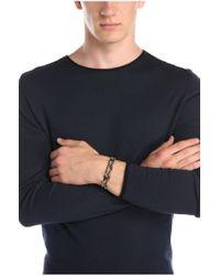 BOSS Orange - Gray Braided Wrap Bracelet In Leather: 'murt' for Men - Lyst