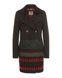 BOSS Orange - Black 'ofrieda'   Cotton Wool Alpaca Blend Coat - Lyst