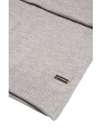 BOSS Orange - Gray Knit Scarf In Cotton: 'kapono' for Men - Lyst