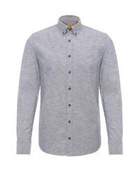 BOSS Orange   Blue Mottled Slim-fit Shirt In Cotton: 'epreppy' for Men   Lyst