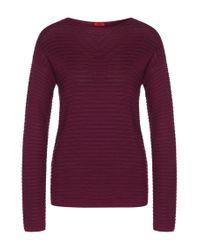 HUGO | Purple Sweater In Stretch Viscose Blend With Silk, Cotton And Cashmere: 'suria' | Lyst