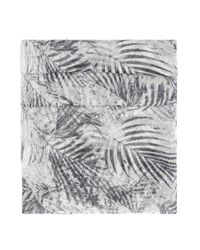 BOSS Orange - Gray Patterned Woven Cotton Scarf: 'nabamboo' - Lyst