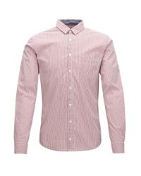 BOSS Orange | Red Striped Extra-slim-fit Shirt In Stretch Dobby for Men | Lyst