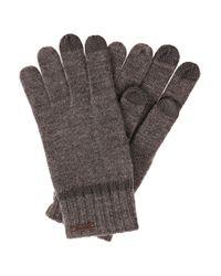 BOSS Orange | Gray 'graas' | Wool-blend Touch Screen Gloves | Lyst