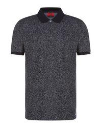 HUGO   Blue 'dinello'   Slim Fit, Cotton Jacquard Polo Shirt for Men   Lyst