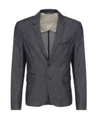 BOSS Orange - Blue 'bait' | Slim Fit, Stretch Cotton Blend Sport Coat for Men - Lyst