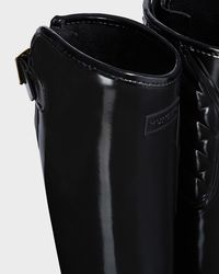 Hunter - Black Refined Adjustable Quilted Tall Riding Boots - Lyst