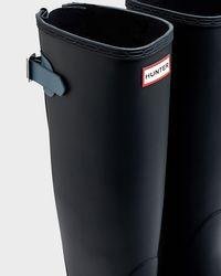 Hunter - Blue Women's Original Tall Back Adjustable Wellington Boots - Lyst
