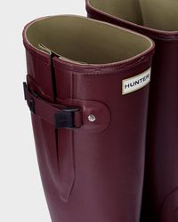 Hunter - Red Norris Field Wide Fit Wellington Boots - Lyst
