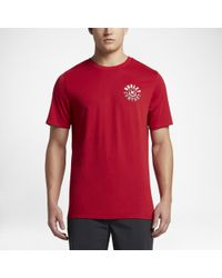 Hurley - Red Dri-fit Walled T-shirt for Men - Lyst