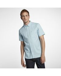 Hurley Blue Dri-fit One And Only Short Sleeve Shirt for men
