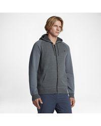Hurley Gray Bayside Zip Hoodie for men