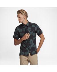 Hurley Black Slice Of Paradise Short Sleeve Shirt for men
