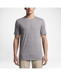 Hurley - Gray Tri-blend Staple T-shirt for Men - Lyst