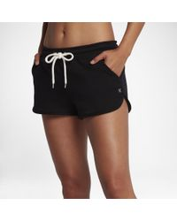 """Hurley Black One And Only 2"""" Fleece Shorts"""
