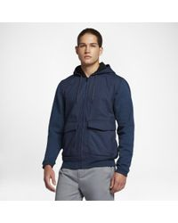 Hurley Blue Bayside Night Out Zip Hoodie for men