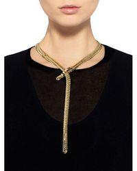 Fallon - Metallic Classique Lariat Necklace - Lyst