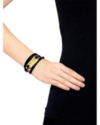 McQ Alexander McQueen - Black Razor Metallic Triple Wrap Bracelet - Lyst