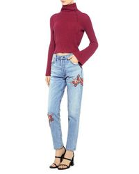 Citizens of Humanity - Blue Liya Embroidered High Rise Jeans - Lyst