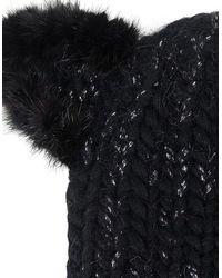 Eugenia Kim - Black Fur Kitty Ear Felix Beanie - Lyst