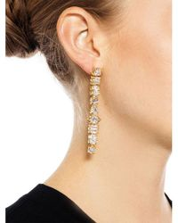 Fallon - Metallic Jagged Edge Earrings - Lyst