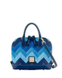 Dooney & Bourke - Blue Chevron Bitsy Bag - Lyst