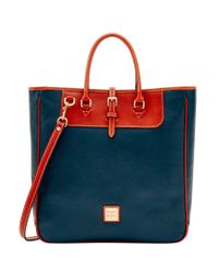 Dooney & Bourke Blue Pebble Editors Travel Tote