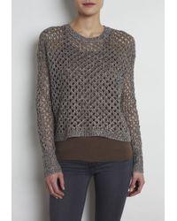 INHABIT | Gray Ribbed Pullover | Lyst