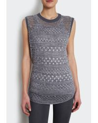INHABIT | Gray Perforated Tank | Lyst