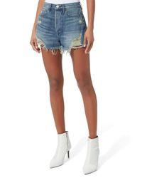 3x1 - Blue Elmar Cutoff Shorts - Lyst