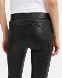 Derek Lam - Black Hanne Leather Leggings - Lyst