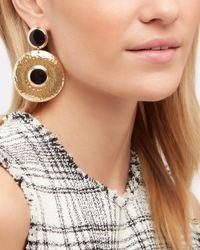 Tuleste - Double Shield Black Earrings - Lyst