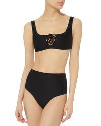 Onia - Black Erin Lace-up Bikini Top - Lyst