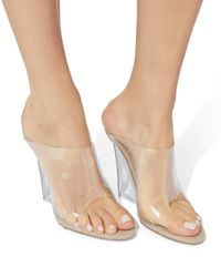 Yeezy - Natural Transparent Wedges - Lyst