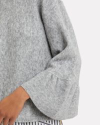 3.1 Phillip Lim - Gray Ruffle Sleeve Grey Sweater - Lyst