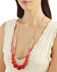 Suzanna Dai | Multicolor Ombré Gumball Necklace | Lyst