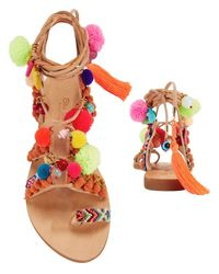 Elina Linardaki - Red Penny Lane Sandals - Lyst