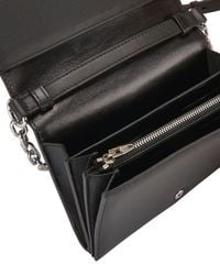 Alexander Wang | Black Prisma Chain Wallet Leather Cross-Body Bag | Lyst