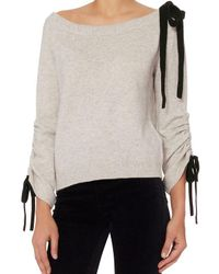 Exclusive For Intermix - Multicolor Lena Off-the-shoulder Sweater - Lyst