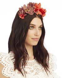 Lizzie Fortunato - Red Floral Headband - Lyst