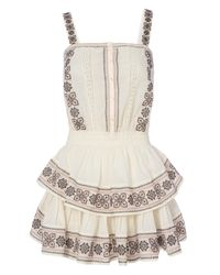LoveShackFancy | White Anna Embroidered Tiered Dress | Lyst
