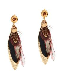 Gas Bijoux | Multicolor Sao Feather Earrings | Lyst