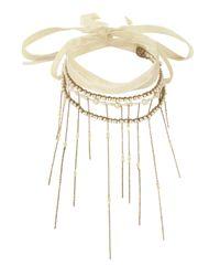 Erickson Beamon | White Wrap Tie Pearl Fringe Necklace | Lyst